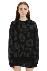 Long-sleeved crew-neck sweater, Patterned sweaters Marcelo Burlon County of Milan woman