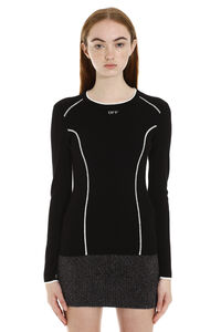 Long-sleeved crew-neck sweater, Crew neck sweaters Off-White woman