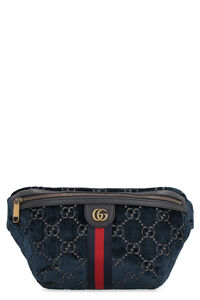 Velvet belt bag with logo, Beltbag Gucci man