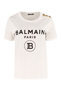Logo cotton T-shirt, T-shirts Balmain woman