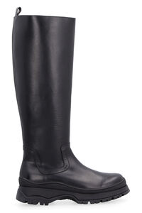 Bow leather boots, Knee-high Boots STAUD woman