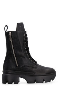 Apocalypse leather combat boots, Ankle Boots Giuseppe Zanotti woman