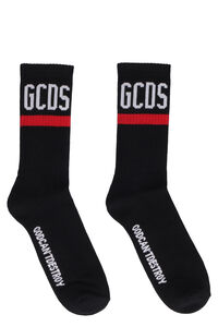 Cotton socks with logo, Socks GCDS man