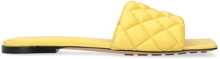 Leather flat sandals, Slides Bottega Veneta woman