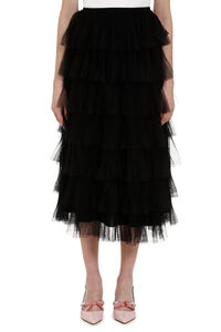 Flounce tulle skirt, Midi skirts Red Valentino woman