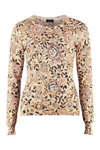 Wool blend crew-neck pullover, Crew neck sweaters Etro woman