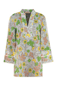 Printed cotton tunic-top, Blouses Tory Burch woman
