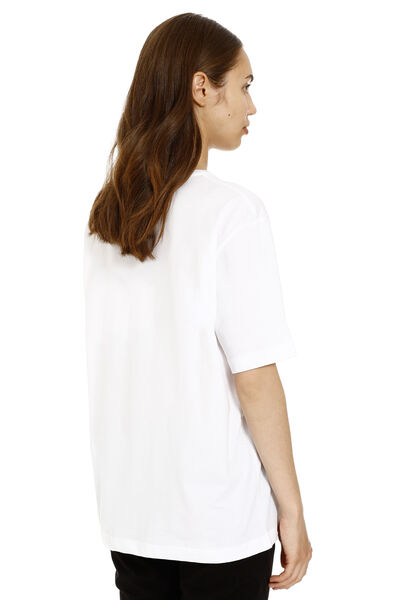 Printed oversized cotton t-shirt