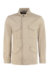 Field multi-pocket cotton jacket, Raincoats And Windbreaker Woolrich man
