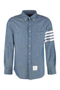 Button-down collar cotton shirt, Denim Shirts Thom Browne man
