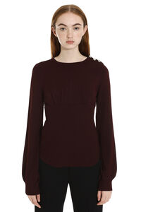 Subito jewel button pullover, Crew neck sweaters Pinko woman
