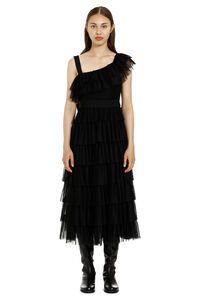 Ruffled skirt tulle dress, Midi dresses Red Valentino woman