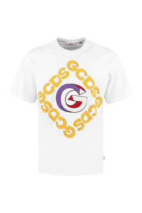 Cotton crew-neck T-shirt, Short sleeve t-shirts GCDS man