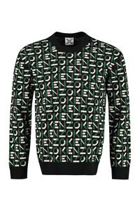 All over logo crew-neck sweater, Crew necks sweaters Kenzo man