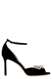 Tris 85 suede heeled sandals, High Heels sandals Jimmy Choo woman