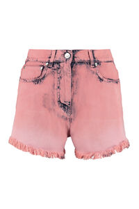 Shorts in denim a vita alta, Shorts in denim MSGM woman