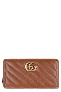 GG Marmont leather zip around wallet, Wallets Gucci woman