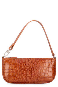 Rachel crocodile print leather bag, Top handle BY FAR woman