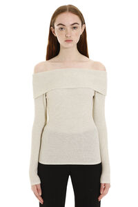 Off-shoulders pullover, Long sleeved Parosh woman