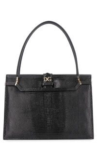 Ingrid iguana print leather bag, Top handle Dolce & Gabbana woman