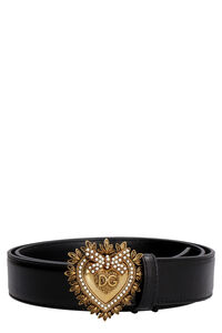 Devotion embellished buckle leather belt, Belts Dolce & Gabbana woman