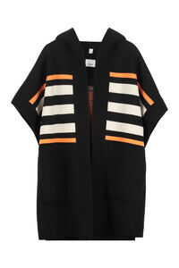 Wool and cashmere blend poncho, Poncho Burberry woman