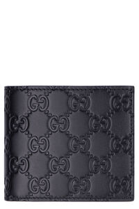 Leather wallet with GG print, Wallets Gucci man