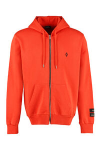 Cotton full zip hoodie, Zip through Marcelo Burlon County of Milan man