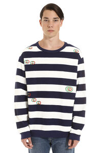 Striped cotton sweatshirt, Sweatshirts Gucci man