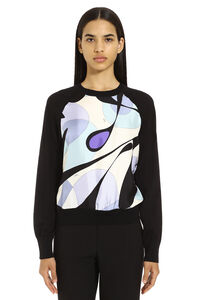 Silk and wool sweater, Crew neck sweaters Emilio Pucci woman