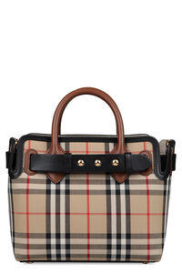Ll Baby Belt Bag checked canvas handbag, Top handle Burberry woman
