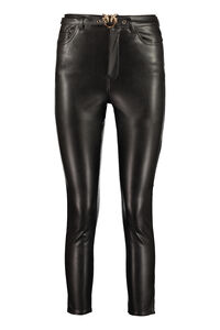 Susan faux leather trousers, Leather pants Pinko woman