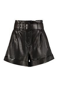 Faux leather shorts, Shorts Self-Portrait woman