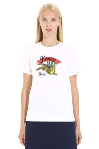 T-shirt in cotone con stampa, T-shirt Kenzo woman