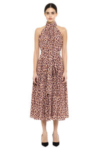 Leopard-print silk long dress, Printed dresses Zimmermann woman