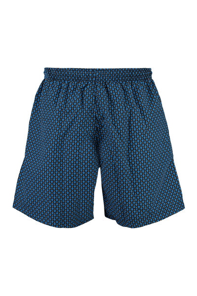 'Skull and Dots' print swim shorts