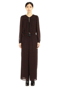 Crepe jumpsuit with belt, Full Length jumpsuits MICHAEL MICHAEL KORS woman