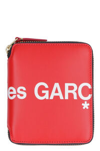 Logo print leather zip around wallet, Wallets Comme des Garçons Wallet man