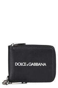 Leather zip around wallet, Wallets Dolce & Gabbana man
