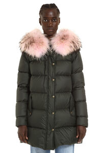 Fur hood down jacket, Down Jackets Mr & Mrs Italy woman