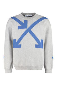 Cotton-blend sweater, Crew necks sweaters Off-White man