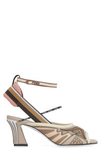 Technical fabric sandal with heel, Heeled Sandals Fendi woman