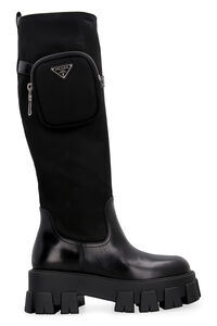 Leather boots, Knee-high Boots Prada woman