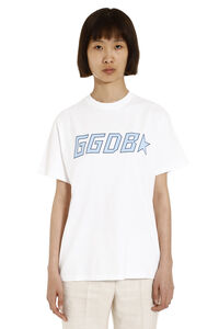 Golden cotton T-shirt with logo, T-shirts Golden Goose woman