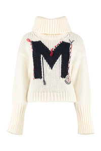 Tricot-knit sweater, Turtleneck sweaters Moncler woman