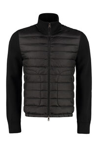 Cardigan with padded front panel, Cardigans Moncler man