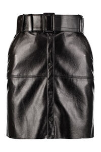 Faux leather mini skirt, Leather skirts MSGM woman