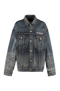 Destroyed denim jacket, Denim Jackets Balenciaga woman