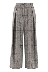 Checked wide-leg trousers, Wide leg pants Dolce & Gabbana woman