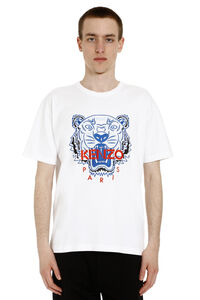 Tiger embroidered cotton t-shirt, Short sleeve t-shirts Kenzo man